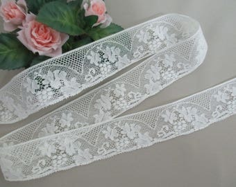 Vintage Antique Lace Trim Valenciennes Light Cream Off White