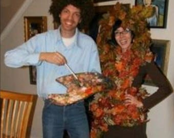 Bob Ross and Happy Tree Couple Costume