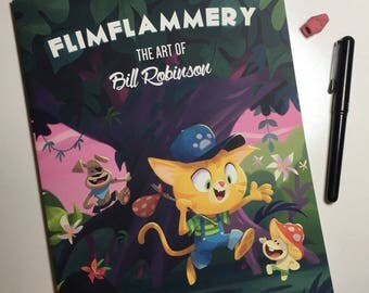 Flimflammery Vol 2: Art By Bill Robinson | Collected Drawings and Designs | Art Book | SIGNED