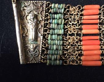 Stunning egyptian scarab bracelet