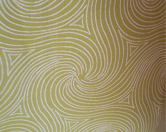 LIME Green White Circles And SWIRLS OUTDOOR Upholstery Fabric by the yard, 36-60-09-0617