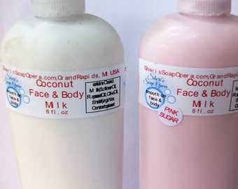 Coconut Face & Body Milk-Handcrafted from Scratch-All Natural