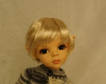 Beautiful Blonde Bob Trendy BJD Wig by Bo Bergemann size 7+