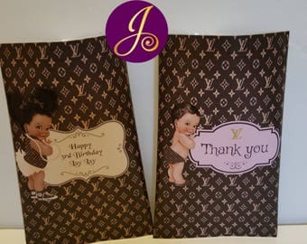 Designer Inspired Customized Party chip bags Unfilled