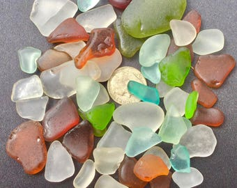 "A-Sea Glass Beach Glass of Hawaii SALE! 50 COLORFUL 1/2"" ONLY 29 Dollars! Bulk Sea Glass! Bulk Sea Glass! Sea Glass Bulk! Mosaic Tiles!"