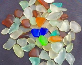 A-Sea Glass Beach Glass of HAWAII beach COBALT! SALE! 75Jewelry quality 4 drilling! Genuine Sea Glass! Seaglass! Bulk Sea Glass!
