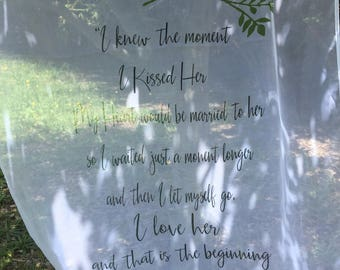 Wedding backdrop quotes