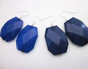 Blue Team Accessories -- Blue Accessories for Sports -- Blue Team Colors -- Blue Spirit Jewelry -- Blue Sport Jewelry -Blue Acrylic Earrings