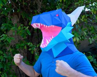 DIY Dragon Mask - Paper Pattern Instant Download | Dragon | Art | Masquerade Mask | Halloween Mask | Paper Mask | DIY Mask