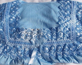 Women's Clothing Nightgown Blue Long Sleeve