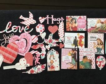 Lovestruck DIY Valentine Kit-Retro Valentine Designs-Paper Die Cuts For Cardmaking-Papercraft Kits-Paper Crafting-Valentine's Day Cards