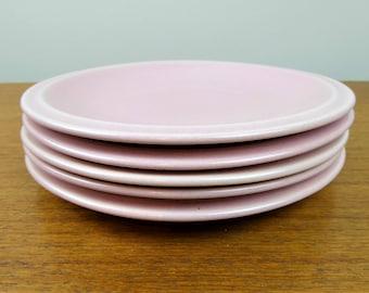 Vernon Kilns Bread Plates | Ultra California | Pink | Carnation | 1937 - 1942
