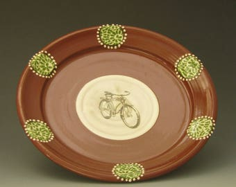 Lunch plate with bicycle
