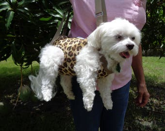 Leopard Pet Sling Carrier-READY TO SHIP