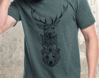 Animal totem Unisex tee // made in the USA by Black Lantern