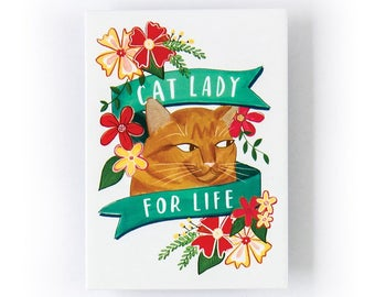 Cat Lady for Life Magnet by Emily McDowell