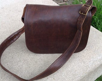 Vintage Brown Leather Coach Purse / NYC / Coach Saddle Bag