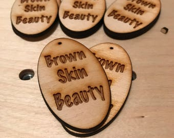 12 Brown Skin Beauty Unfinished Wood Shapes