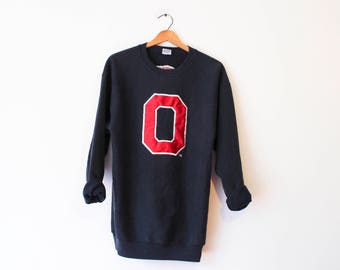 Vintage Black Ohio State University Buckeyes Sweatshirt