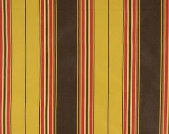 Black Red Gold Striped Polyester Fabric