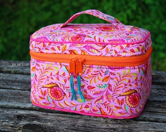 Design Your Own custom made Train Case | Toiletry Bag | Makeup Bag | Cosmetic Case | Project Bag | Project Case