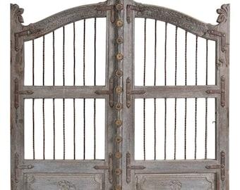 Teak Garden Gate / Headboard / Art / Vintage / Wall decor