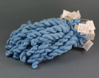 Embroidery yarn, hand-dyed with natural dyes, merino thread, cobweb weight, embroidery floss,20m, dyed with INDIGO, blue, 265