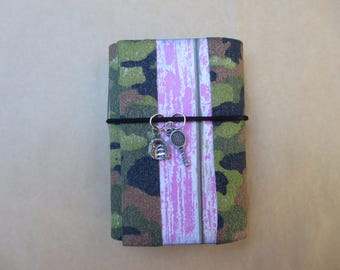Camo Lady Sportswoman Mini Junk Journal/Handmade with Colorful Napkin /writers/Art/Memory book/SmashBook/Dream/Handmade/Notebook/Planner