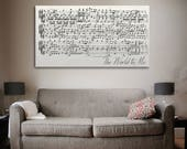 Sheet Music Art, Sheet Music Canvas Print, Song Lyric Print, First Dance Framed On Canvas, Custom And Personalized Wedding Song