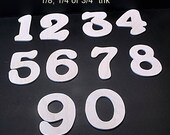 Pkg of 13 Unfinished Wood Numbers  Style 8 for Kahla