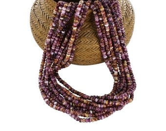 """Summer Sale : ) PURPLE SPINY OYSTER Beads Drums 4mm Light 16"""""""