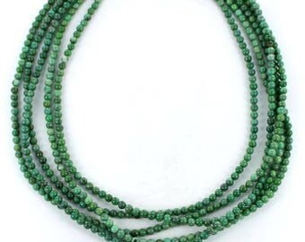 TURQUOISE BEADS LIME Green 3.5mm