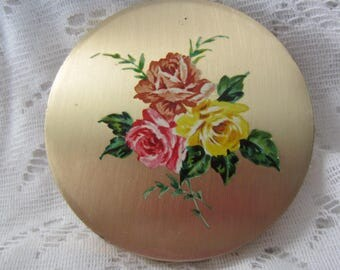 Stratton Compact Vintage With Flower Design