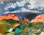 Pikes Peak Oil Painting