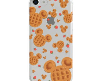 Mickey Waffles Clear Disney iPhone Case