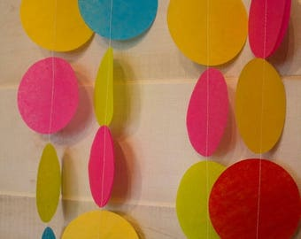 ON SALE TODAY Tissue Circle Dots Garland - Made to Order - Choose from over 65 colors