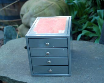 Kennedy Manufacturing Co. Cabinet ~ Vintage Kennedy Mfg. Co. 4 Drawer Small Parts Cabinet  ~  Kennedy Toolbox Small Parts Bin ~ Industrial