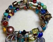 Peace & Love Wrap Bracelet. FREE SHIPPING!