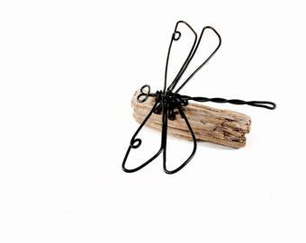 Dragonfly Wire Sculpture, Dragonfly Wire Art, Minimal Wire Sculpture, 528496220