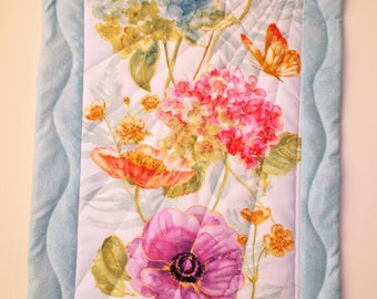 Flowers in the Garden Quilted Wall Hanging