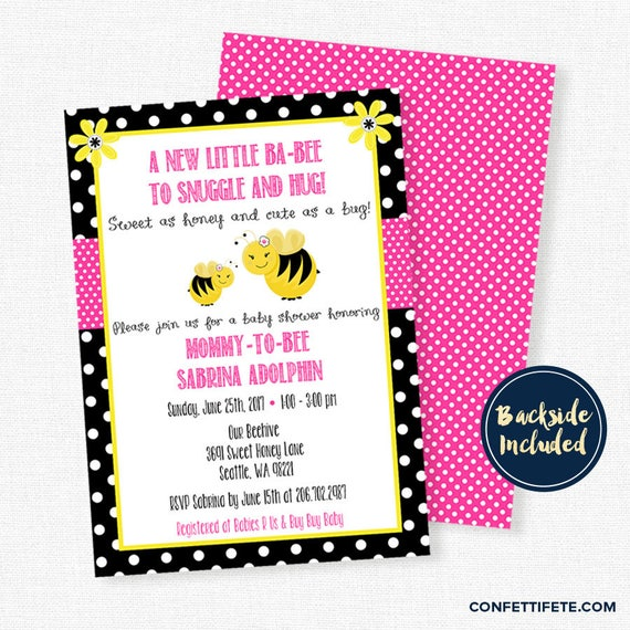 bee baby shower invitation bumble bee baby shower invitation girl