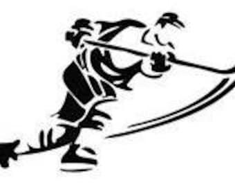 Ice Hockey Cross Stitch Chart