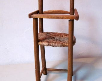 Vintage wooden doll chair High Chair