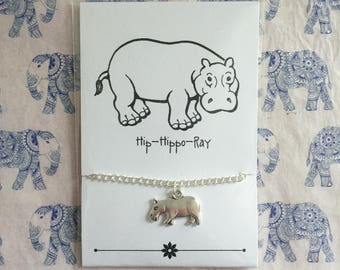Hip-Hippo-Ray - Hippo friendship bracelet