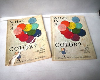 What Is a Color? Alice & Martin Provensen Illustrated Childrens Big Golden Book 1960s