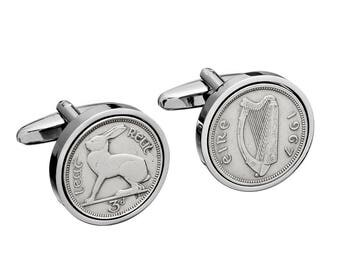 1950 Irish Gift - 67th Birthday Gift - Lucky Irish Coin Cufflinks -  Includes presentation box - 100% satisfaction - 3 day delivery option