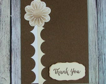 Brown and tan Thank You card--CB81217-28