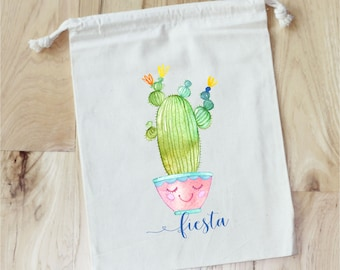 FIESTA CACTUS Baby Shower -   Personalized Favor Bags - Set of 10 - Baby Shower Favors
