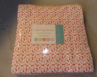 Little Ruby Flannel Layer Cake by Bonnie & Camille for Moda Fabrics
