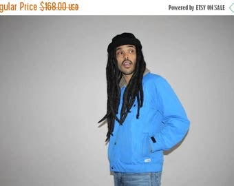 On SALE 35% Off - Rare Men's Vintage 1990s The North Face Blue Corduroy Collar Winter Puffer Ski Jacket - VTG The North Face Jackets - MV002